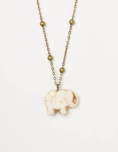 Collar elefante crudo