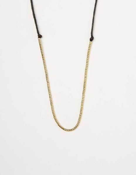 Gold bed necklace