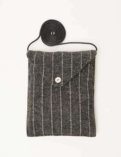 Pinstripe crossbody bag