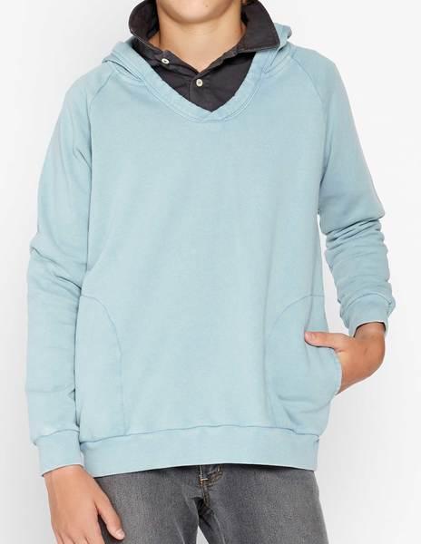 Sudadera capucha azul gastado