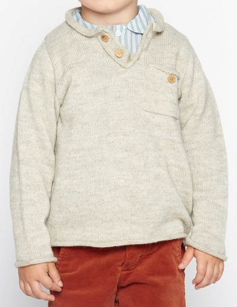 Beige sweater with buttons