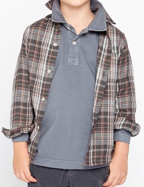 Grey tartan shirt