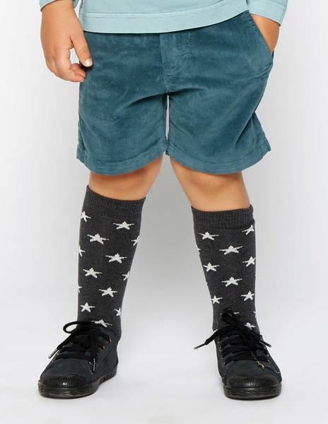 Pantalón corto pana azul