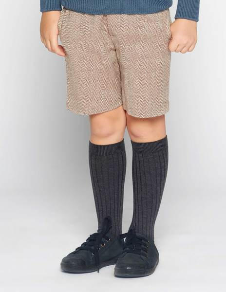 Rust herringbone shorts