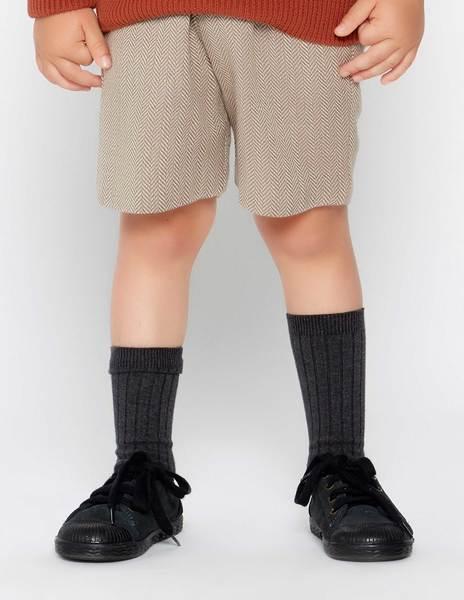 Pantalón corto espiga gris