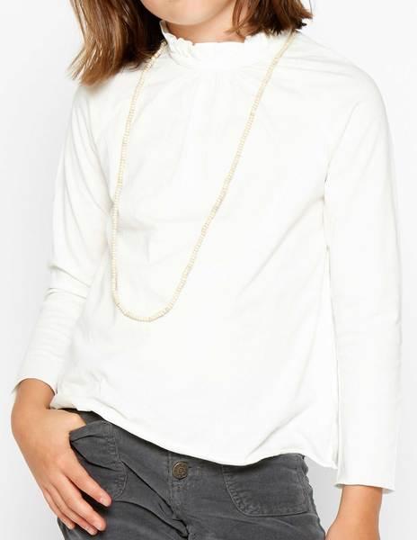 Camiseta cuello perkins cruda