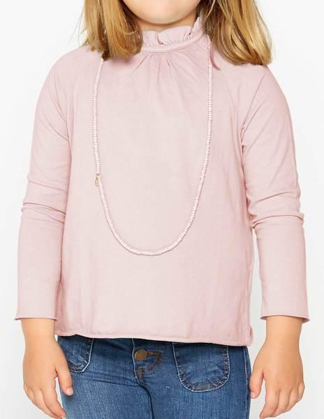 Camiseta cuello perkins rosa