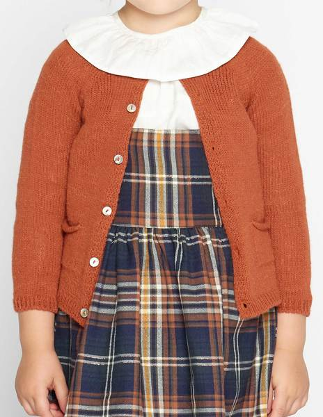 Rust cardigan with pockets