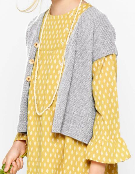 Grey short sleeve cardigan