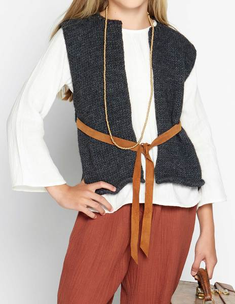 Anthracite waistcoat