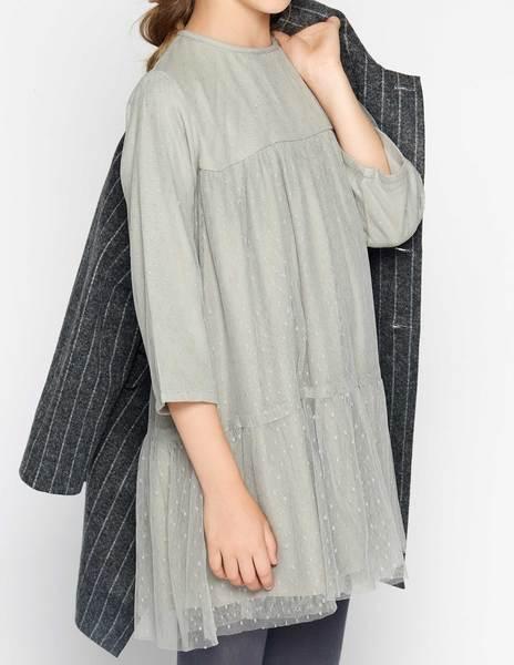 Vestido tul gris