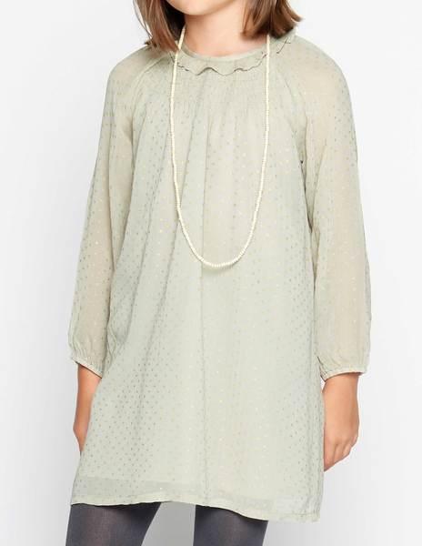 Grey polka dot dress
