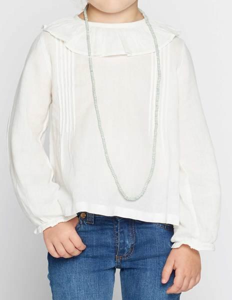 Camisa cuello volante jaretas
