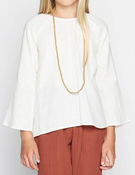 Camisa manga campana cruda