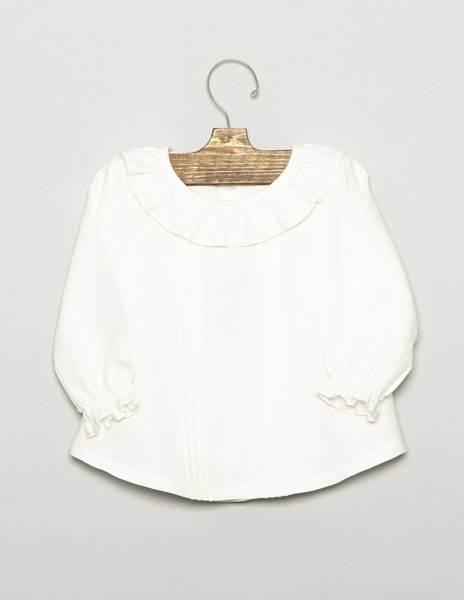 Camisa bebé jaretas cruda