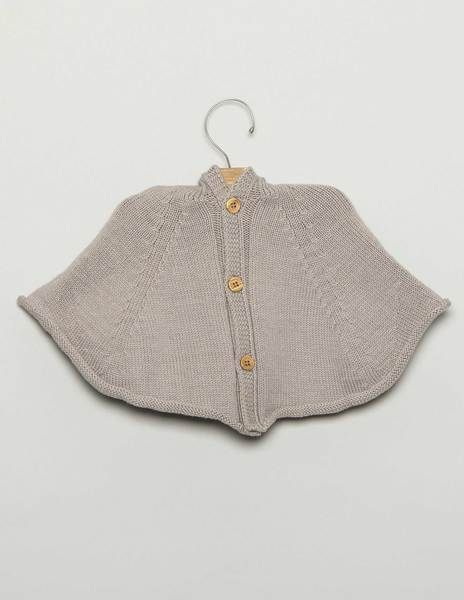 Grey baby cape with hood