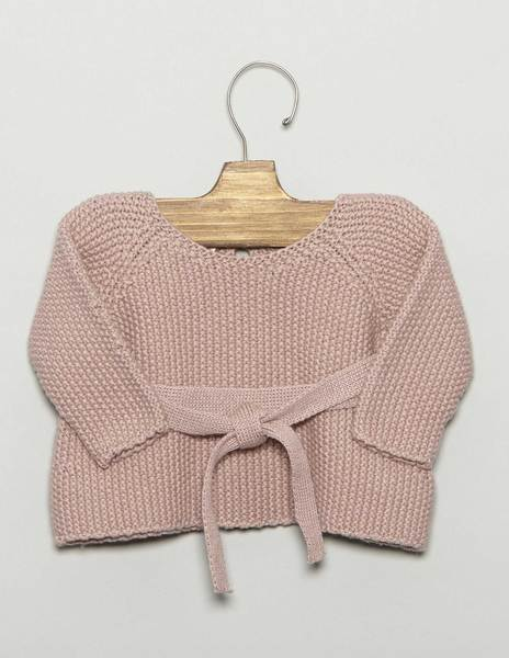 Pink baby bow sweater