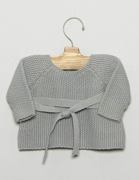 Green newborn bow sweater