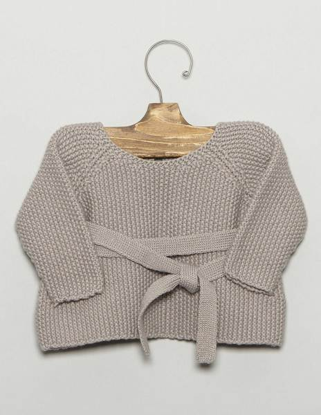 Grey baby bow sweater