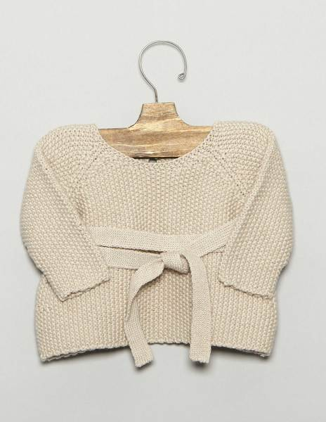 Beige baby bow sweater