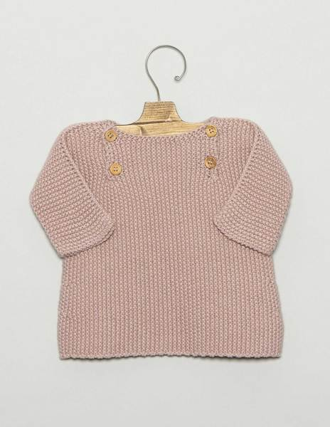 Pink newborn sweater with buttons