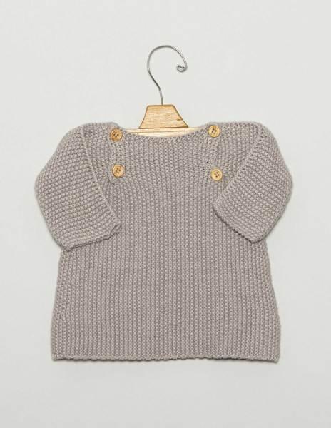 Jersey bebé botones gris