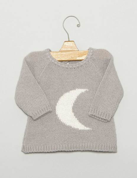 "Grey ""MOON"" newborn sweater"