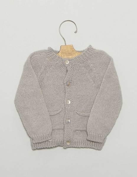 Chaqueta bebé bolsillos gris