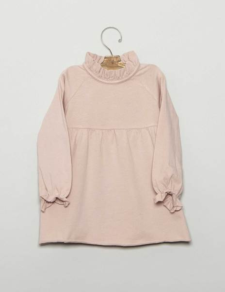 Pink high neck baby dress