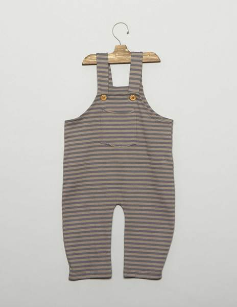 Striped baby overalls