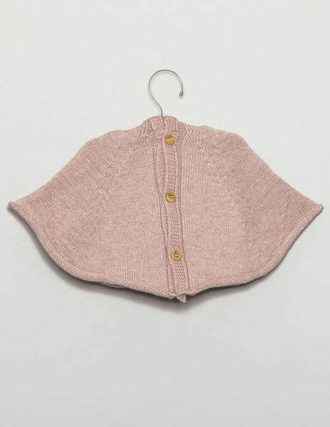 Pink baby cape with hood