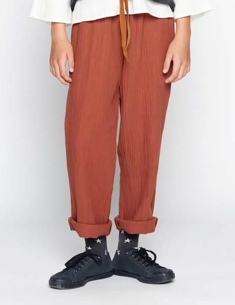 Rust creased trousers