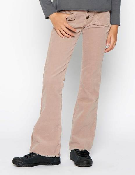 Pink flared corduroy trousers