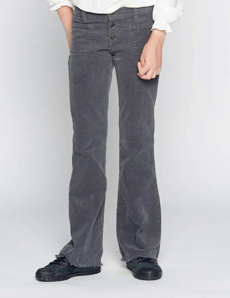 Anthracite flared corduroy trousers