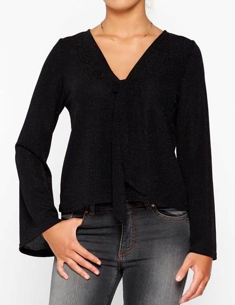 Camisa brillo negro