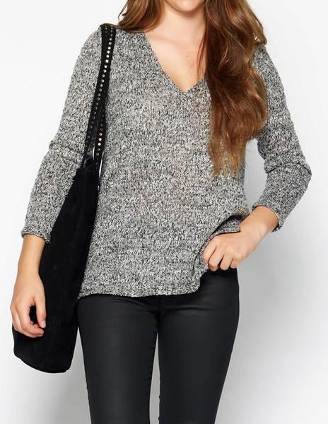 Silver shiny knit sweater