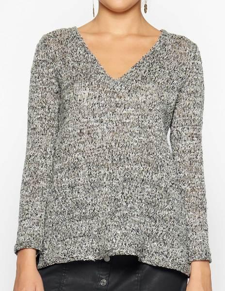 Gold shiny knit sweater
