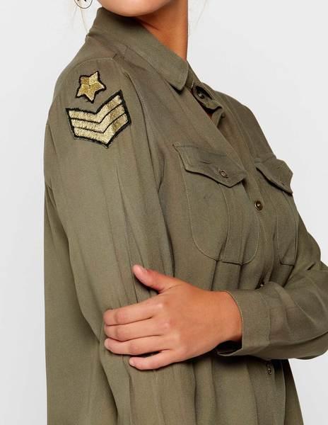 Camisa militar parches