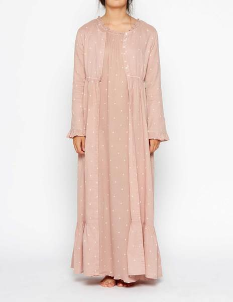 Pink bushes robe