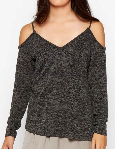 Jersey abertura hombros gris