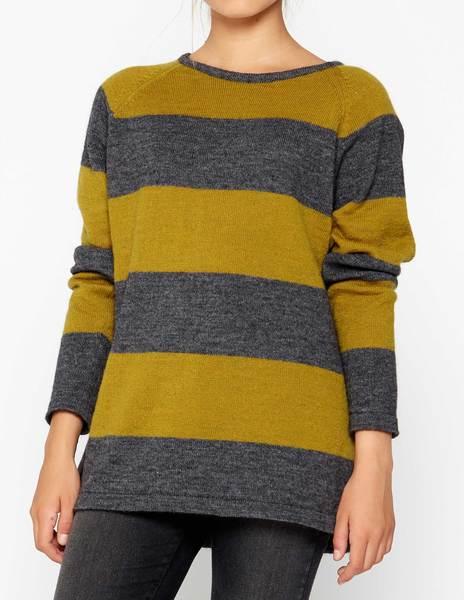 Jersey rayas bicolor amarillo