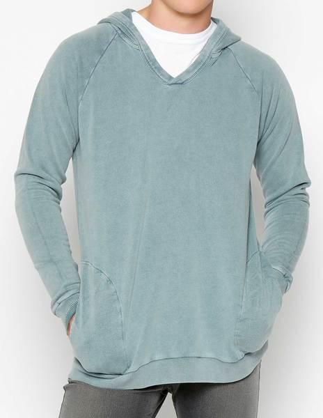 Sudadera capucha azul oscuro gastado