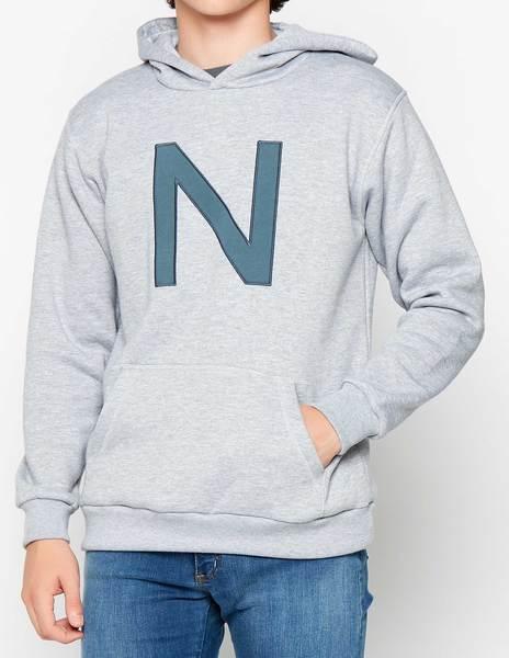 """Sudadera """"N"""" gris"""