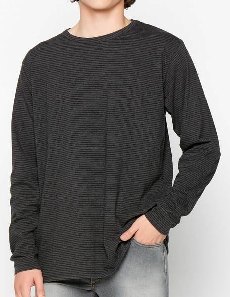 Grey-black striped tee-shirt