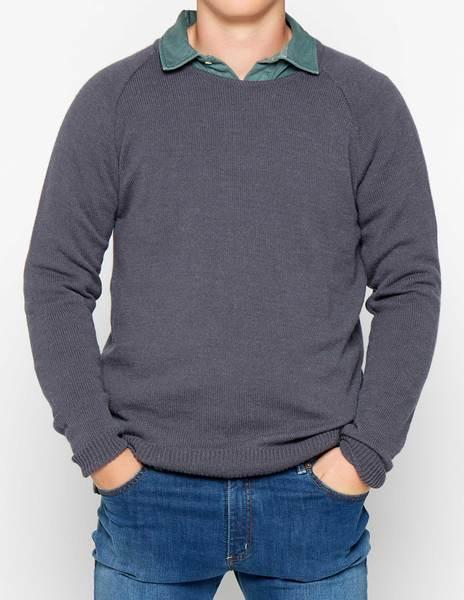 Jersey cuello redondo antracita