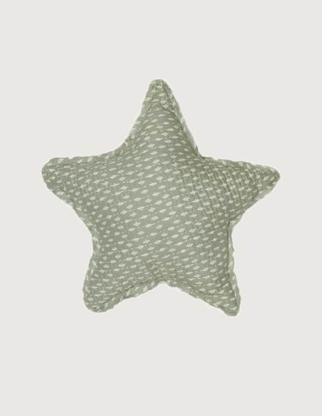 Green branches large star cushion