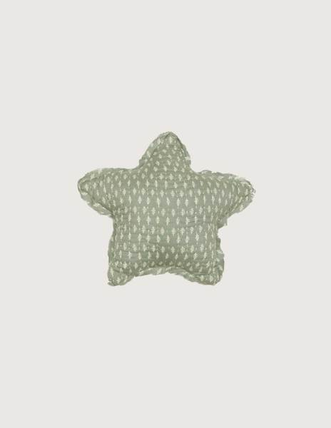 Green branches small star cushion