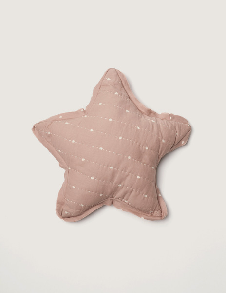 Pink bushes large star cushion