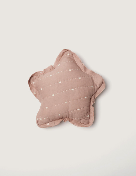 Pink bushes small star cushion