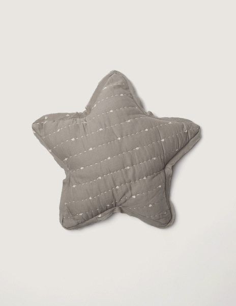 Grey bushes large star cushion